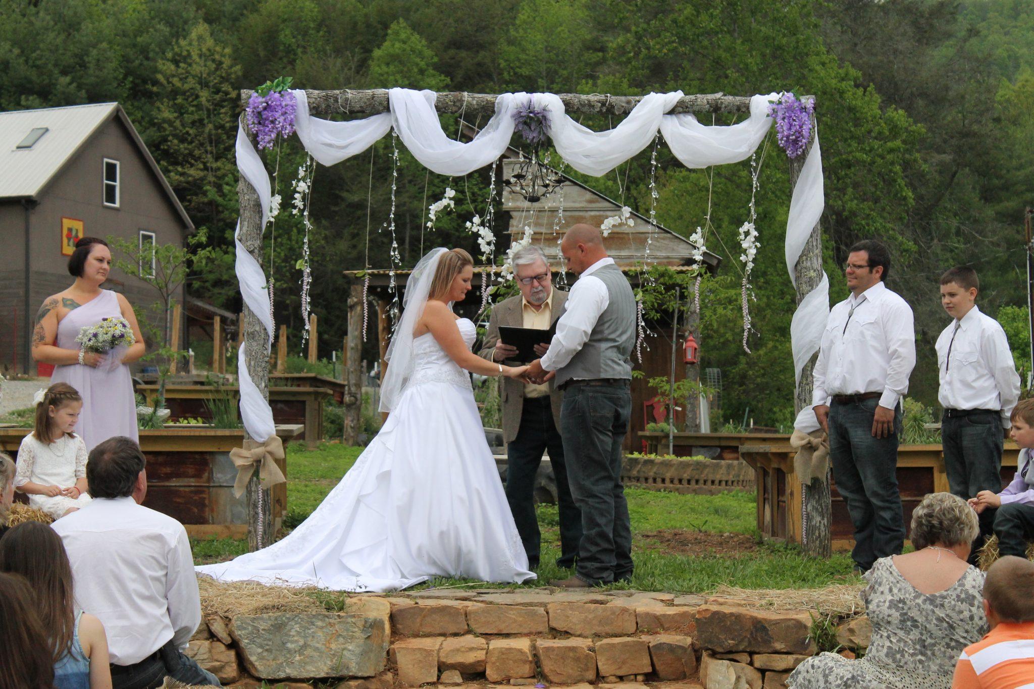 Farm wedding spring arbor