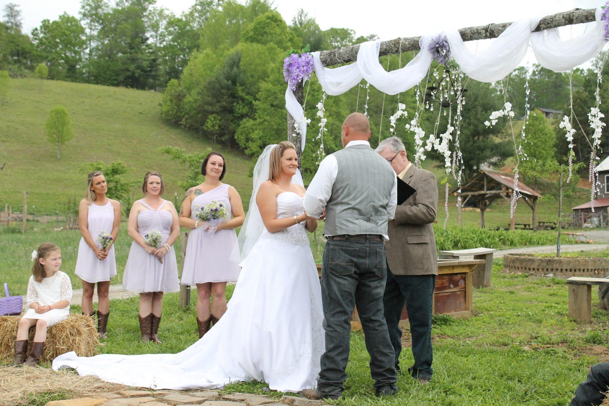 farm wedding spring