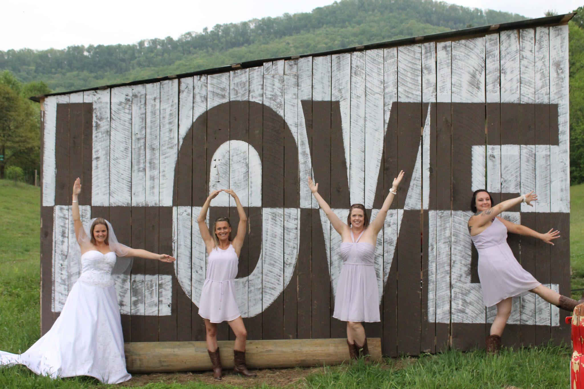 Farm Wedding love barn