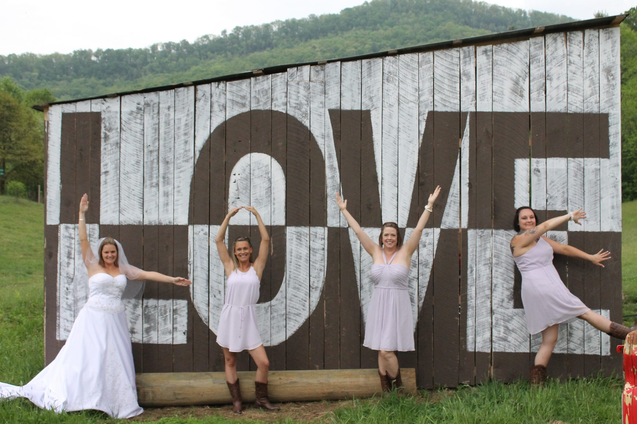 Farm Wedding love barn